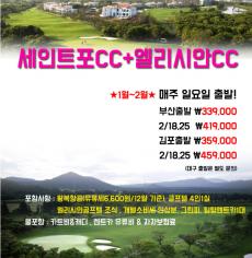 신년맞이 초특가 세인트포cc+엘리시안 cc
